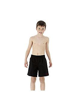 Speedo Boys Solid Leisure Shorts - Black