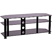 MMT P5BLK1250 Black Glass Corner TV Stand for up to 55 inch