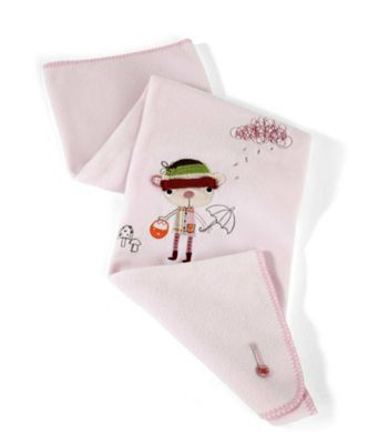 Mamas & Papas - Scrapbook Girl - Small Fleece Blanket