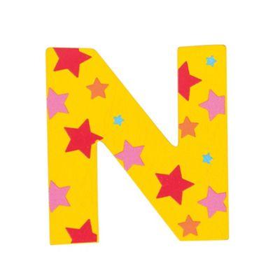 Bigjigs Toys Star Letter N (Yellow)