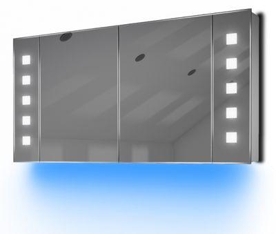 Ambient Audio Demist Bathroom Cabinet With Bluetooth, Shaver & Sensor K124Baud
