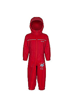 Regatta Kids Puddle IIII All in 1 Suit - Red