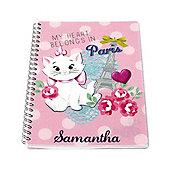 Disney Aristocats Personalised Paris Notebook