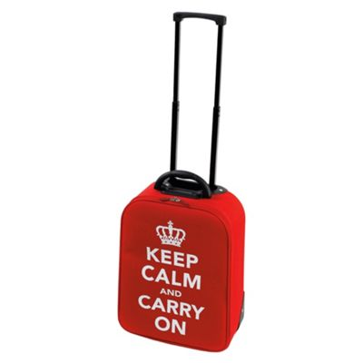 Constellation Keep Calm and Carry On 2-Wheel Suitcase, Red Small