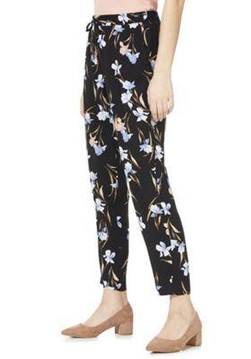 F&F Floral Print Elastic Waist Trousers Multi 22