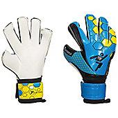 Precision Football Matrix Box Cut Odd Tech Soccer Goalkeeper Gloves - Blue