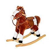 Homcom Kids Toy Rocking Horse Plush Riding Brown