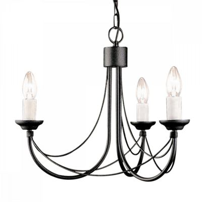 Black 3lt Chandelier - 3 x 60W E14