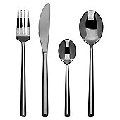 Elegant Black  16 piece Cutlery Set