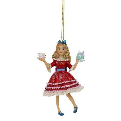 Alice in Wonderland Alice Christmas Tree Bauble Decoration