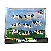 Pack Of 8 Cows Lying And Standing - 1:87 Scale - 57.1878 - Kids Globe