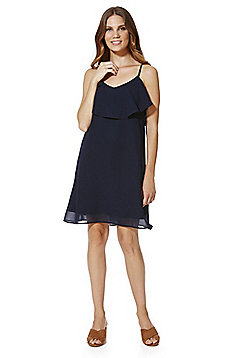 Vero Moda Ruffle Detail Camisole Dress - Navy