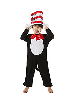 Dr. Seuss The Cat in the Hat Fancy Dress Costume - Black