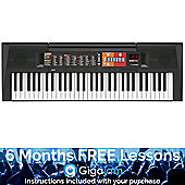 Yamaha PSR-F51 Portable Keyboard - with 6 Months Free Online Music Lessons