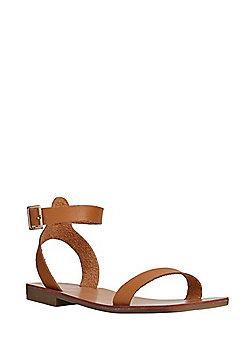 F&F Ankle Strap Sandals - Tan