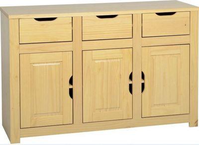 Home Essence Eclipse 3 Door Sideboard - Oak