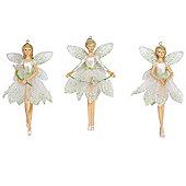 Set Of Three Fairy Christmas Tree Decorations