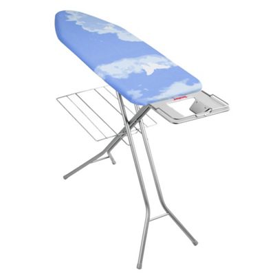 Metaltex Antares Ironing Board with Linen Shelf - Blue