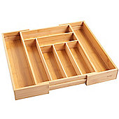 VonShef Extendable Bamboo Cutlery Tray