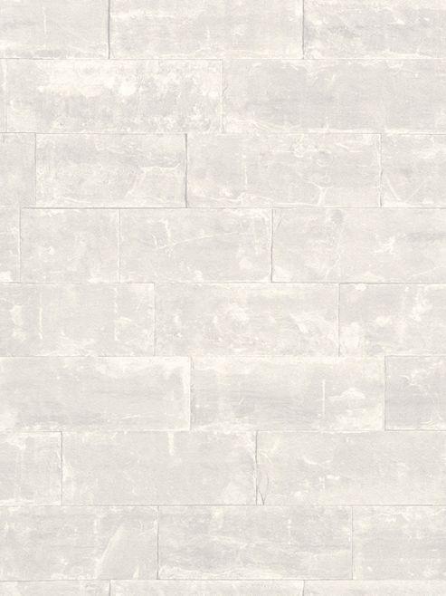 Rasch Stone Brick Wallpaper White 414615