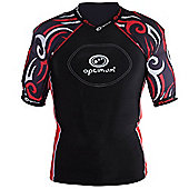 Optimum Razor Rugby Body Protection Black/Red - XL