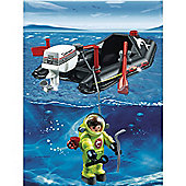 Playmobil Dinghy with Diver