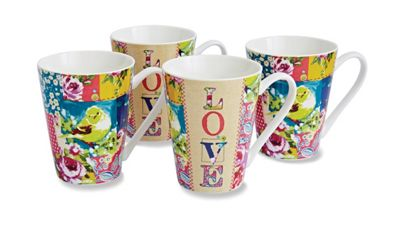 Cooksmart Oriental Patchwork Mugs, Set of 4