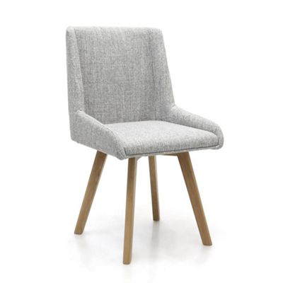 Pair of Skandi Weave Dining Chairs - Grey
