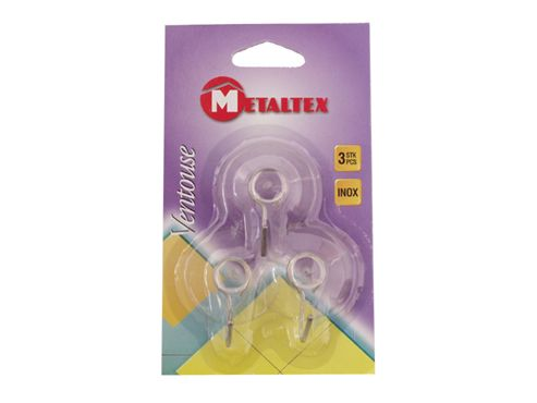 Metaltex 295003 Suction Hooks X3