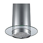Cookology CYL605RGL 60cm Round Glass Island Chimney Cooker Hood in Stainless Steel