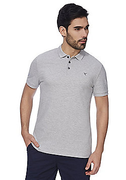 F&F Pique Short Sleeve Polo Shirt with As New Technology - Grey marl