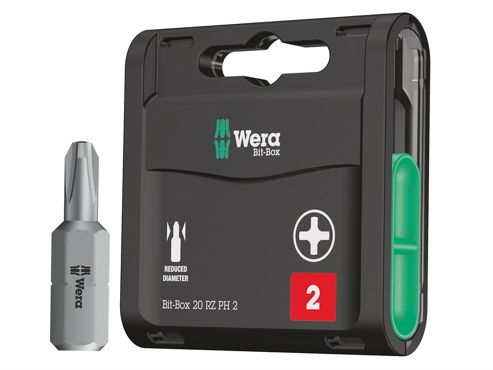 Wera Bit-Box 20 Drywall Tough Bits PH2 Drywall x 25mm 20 Piece