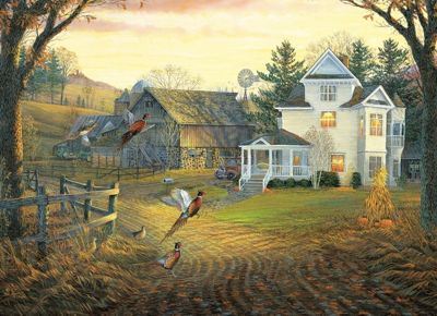Country Crossing Pheasants Puzzle