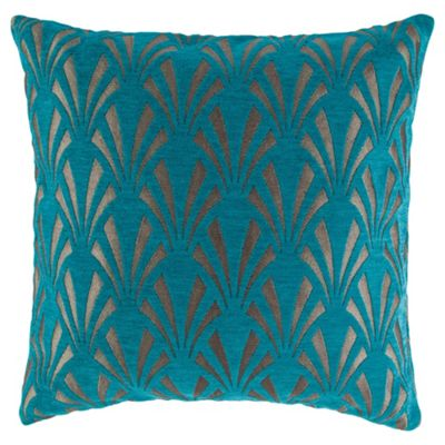 Gatsby Cushion 45x45cm, Teal