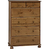 Steens Richmond 2+4 Deep Drawer Chest Pine