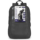 """Targus Intellect 15.6"""" Laptop Backpack Case + Wired Mouse"""