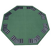 Homcom 1.2m/48 Inches Foldable Poker Table Top 8 Players Blackjack Trays