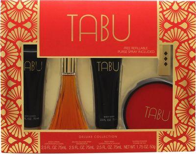 Dana Tabu Gift Set 90ml EDC + 75ml Body Lotion + 75ml Body Wash + 52.5ml Dusting Powder For Women