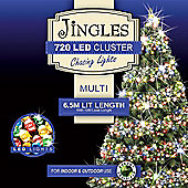 Jingles 720 Multi-Function 6.5m Cluster Lights - Multi-Coloured