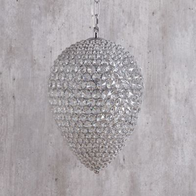 Litecraft Maison 4 Bulb Crystal Ceiling Pendant, Chrome
