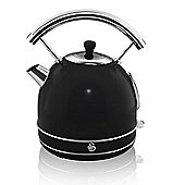 Swan-SK34020BN Retro Dome Kettle with 1.7L Capacity in Black
