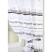 Metropole Voile Curtain Panel - Black