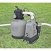 Intex 1600 Gall/Hr Krystal Clear Sand Filter Pump With Saltwater System