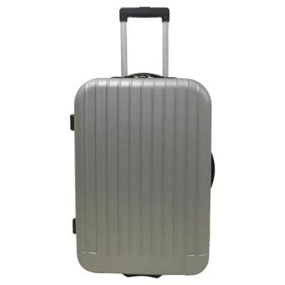 Buy Tesco Edinburgh 2 wheel Hard Shell Grey Medium Suitcase from ...