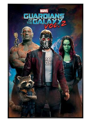 Guardians Of The Galaxy Vol.2 Gloss Black Framed Characters Poster 61x91.5cm,