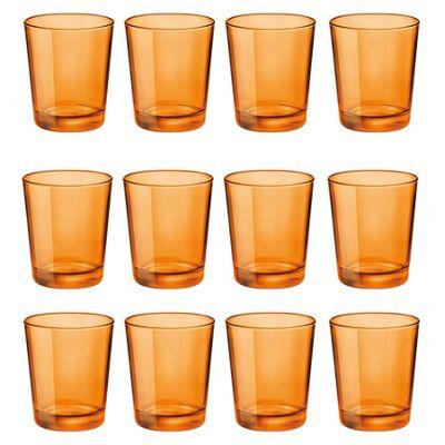 Bormioli Rocco Castore Coloured Glass Drinking Tumblers - Orange - 300ml - Pack of 12