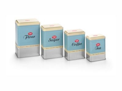 Tala 1960/004 Storage Tins X4