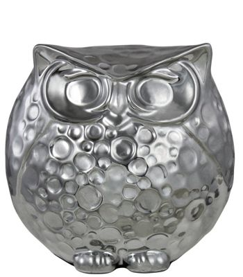 French Grey Nouveau Owl Decoration