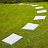 1 x 4 Pack Parkland Plastic Patio Paving Slabs Stepping Stones Imitation Garden Tile Stone Effect Feature Path Lawn