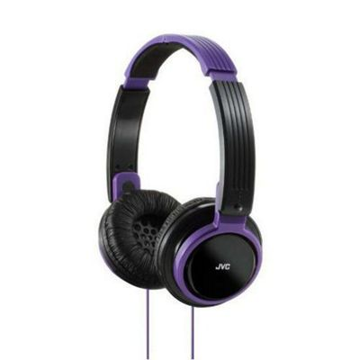 JVC HAS200/Violet Riptide Portable On-Ear Headband Headphones - Violet
